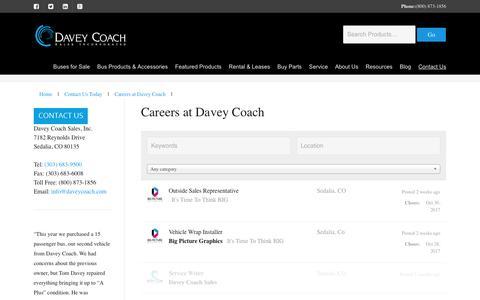 Screenshot of Jobs Page daveycoach.com - Careers at Davey Coach - captured Oct. 12, 2017
