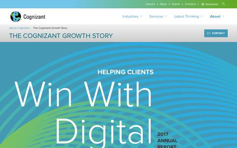 Cognizant Growth Story—Helping Clients Win With Digital | Cognizant