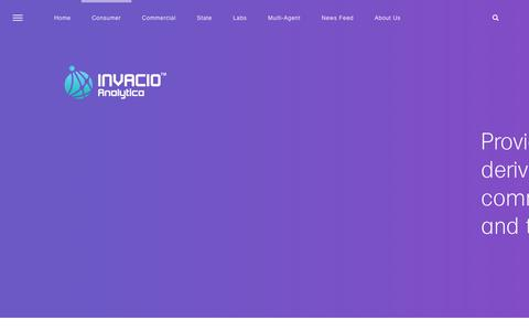 Screenshot of Home Page invacio.com - Invacio Research Analytica - captured Nov. 6, 2018