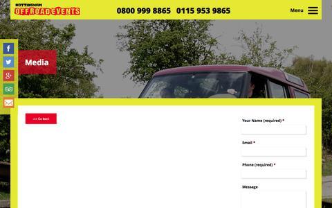 Screenshot of Press Page nottinghamoffroadevents.co.uk - Media   Nottingham Off Road Events Ltd - captured Oct. 26, 2014