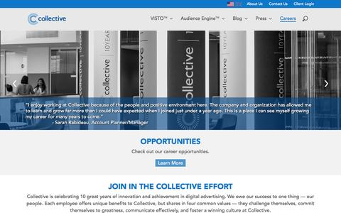 Screenshot of Jobs Page collective.com - Collective - captured Jan. 30, 2016
