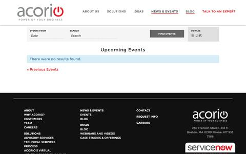 Events Archive - Acorio