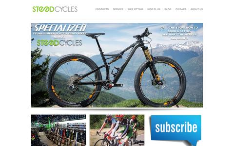 Screenshot of Home Page steedcycles.com - www.steedcycles.com - captured Feb. 23, 2016