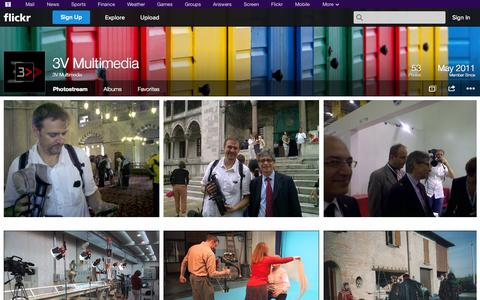 Screenshot of Flickr Page flickr.com - Flickr: 3V Multimedia's Photostream - captured Oct. 26, 2014