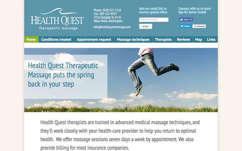 Screenshot of Home Page Maps & Directions Page healthquestmassage.com - Health Quest Therapeutic Massage - captured April 13, 2017