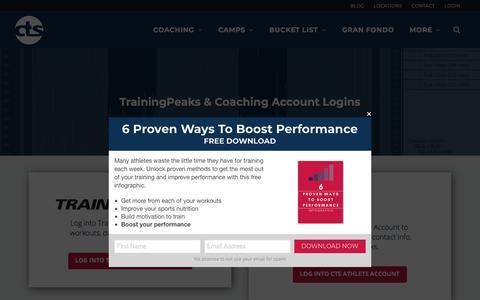 Screenshot of Login Page trainright.com - Coaching Login - CTS - captured Sept. 19, 2018