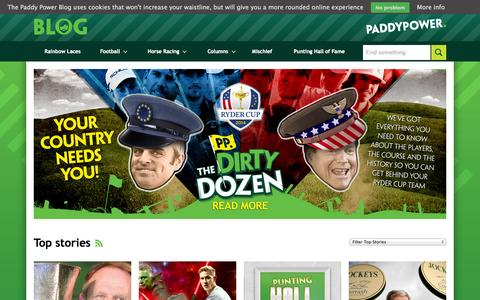 Screenshot of Blog paddypower.com - Paddy Power Blog — Latest odds and news from the Premier League to Cheltenham - captured Sept. 18, 2014