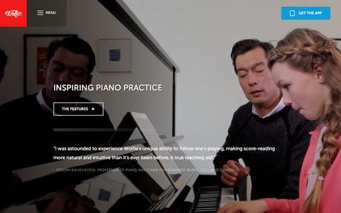 Screenshot of Maps & Directions Page tonara.com - Wolfie for piano app - Tonara and Wolfie for Piano - captured Jan. 24, 2016