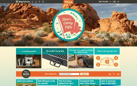 Screenshot of Home Page ticla.com - Camp Better ™ - captured Oct. 8, 2015