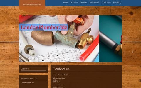 Screenshot of Contact Page londonplumber.biz - LondonPlunber.biz Herne Hill London Plumbing - Contact Us - captured March 26, 2016