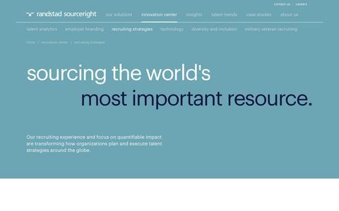Recruitment & Talent Acquisition Solutions | Randstad Sourceright