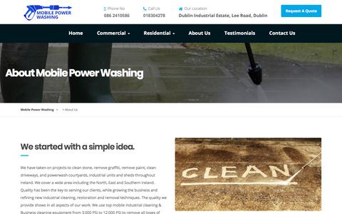 Screenshot of About Page mobilepowerwashing.ie - About Us - Mobile Power Washing - Professional Irish Power Washer - captured Sept. 21, 2018