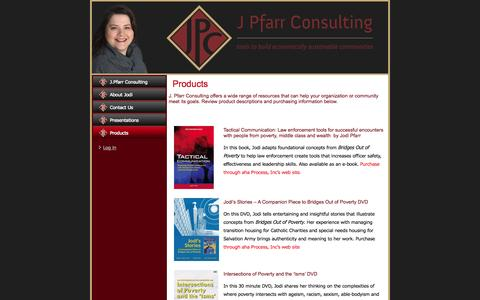 Screenshot of Products Page jpfarr.com - Products | J. Pfarr Consulting - captured Oct. 3, 2014