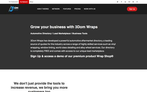 Screenshot of Signup Page Pricing Page 3domwraps.com - 3Dom Wraps Pricing | | Directory Listings | Automotive Service Providers | - captured June 11, 2017