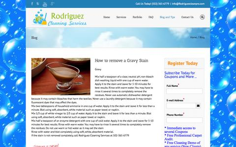 Screenshot of Blog rodriguezcleanpro.com - Rodriguez Cleaning Services Rodriguez Cleaning Services-Cleaning Tips - captured Oct. 6, 2014