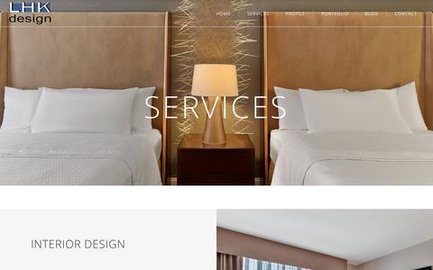 Screenshot of Services Page lhkdesign.com - LHK design | Interior Design , Graphic Design , Art Consultation ,Construction Project Mananagment - captured Sept. 25, 2018