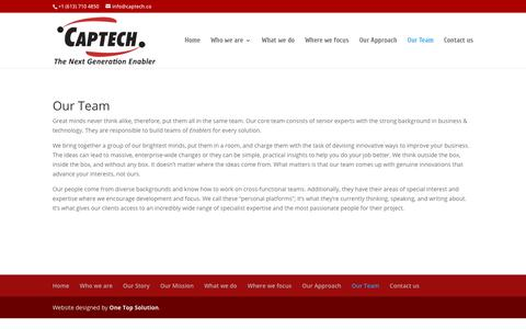 Screenshot of Team Page captech.co - Our Team | Captech | The Next Generation Enabler - captured Jan. 12, 2018