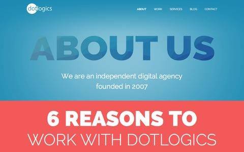 Screenshot of About Page dotlogics.com - About Us | Dotlogics | NYC - captured March 13, 2017
