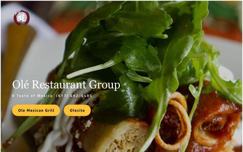 Screenshot of Home Page olerestaurantgroup.com - Ole Restaurant Group - captured Feb. 22, 2016