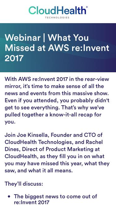 Webinar | What You Missed at AWS re:Invent 2017