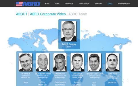 Screenshot of Team Page abro.com - TEAM - captured July 23, 2016