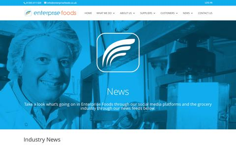 Screenshot of Press Page enterprisefoods.co.uk - News | Enterprise Foods - captured Aug. 9, 2017
