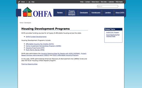 Screenshot of Developers Page ok.gov - Oklahoma Housing Finance Agency - Developers - captured Dec. 2, 2016