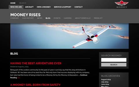 Screenshot of Blog mooney.com - Blog » Mooney International Mooney International - captured Oct. 1, 2014