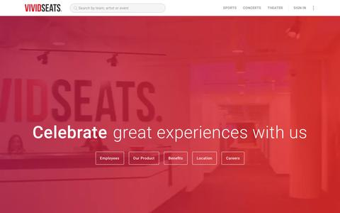 Screenshot of Jobs Page vividseats.com - Chicago Tech, Marketing & IT Jobs | Vivid Seats - captured April 22, 2018