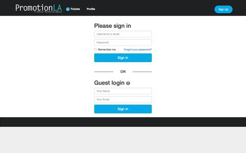 Screenshot of Support Page promotionla.com - Help-Desk - captured Nov. 5, 2018