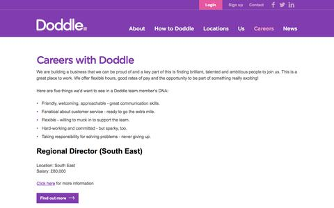 Screenshot of Jobs Page doddle.it - Doddle - captured Sept. 25, 2014