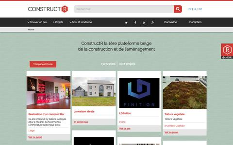 Screenshot of Home Page constructr.be - ConstructR - captured Jan. 21, 2015