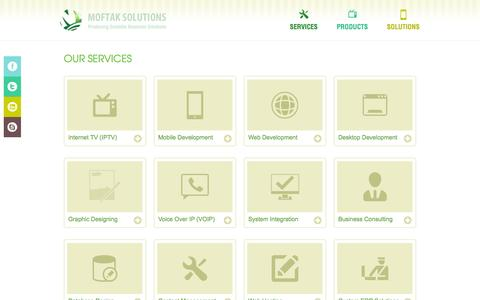 Screenshot of Services Page moftak.com - Services - captured Oct. 1, 2014