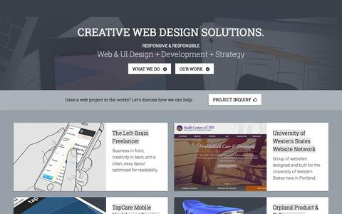 Screenshot of Home Page heptagoncreative.com - Heptagon Creative | Portland Web Design - captured Dec. 9, 2015