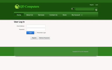 Screenshot of Login Page qdcomputers.com - User Log In - captured Sept. 29, 2014