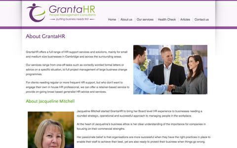 Screenshot of About Page grantahr.com - About us - Granta HR - captured Sept. 30, 2014
