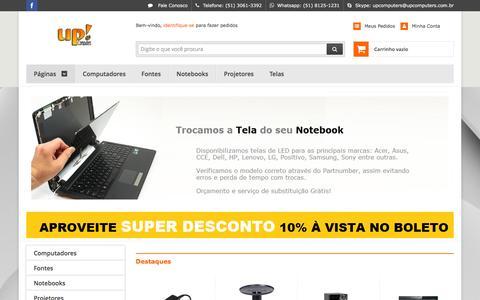 Screenshot of Home Page upcomputers.com.br - UP! Loja e Assistncia de Inform‡tica - captured Dec. 21, 2015