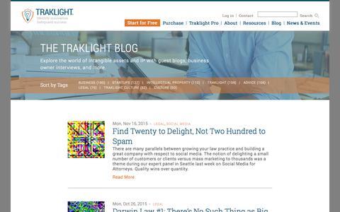 Screenshot of Terms Page traklight.com captured Nov. 17, 2015