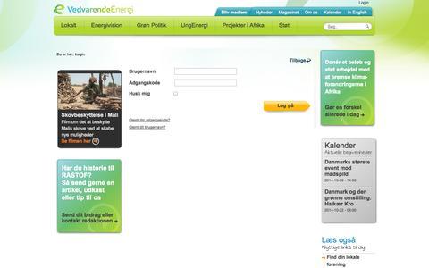 Screenshot of Login Page ve.dk - Login - captured Oct. 7, 2014