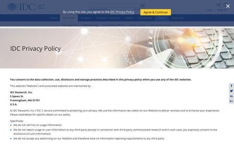 IDC.com - Privacy Policy