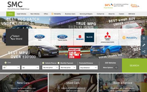 Screenshot of Home Page Terms Page smc-cars.com - Car Dealers | Kent, Berkshire & London | SMC Group - captured July 4, 2018
