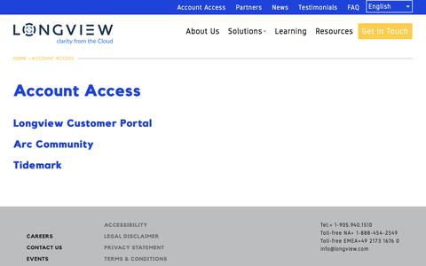 Account Access | Longview