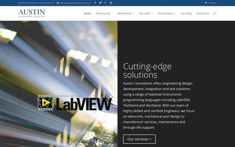 Screenshot of Home Page austinconsultants.co.uk - Austin Consultants | Certified LabVIEW Experts Specialising in System Integration and LabVIEW Consultancy in the United Kingdom - captured Sept. 30, 2014