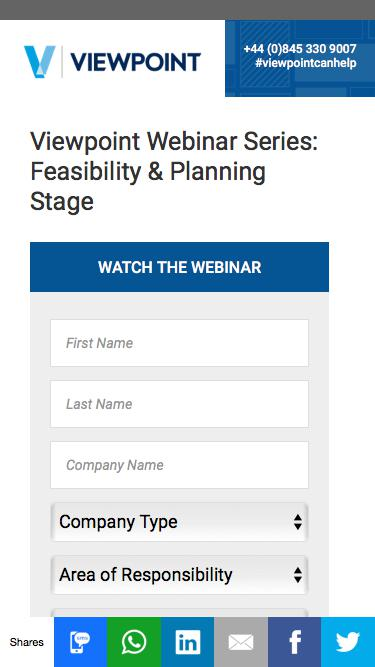 Viewpoint Webinar Series: Feasibility & Planning Stage