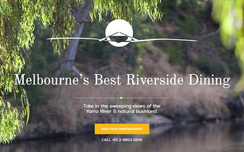 Screenshot of Home Page studleyparkboathouse.com.au - Waterfront Venues Melbourne | Studley Park Boathouse - captured Aug. 16, 2015