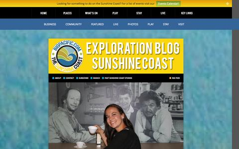 Screenshot of Blog bigpacific.com - Sunshine Coast BC Canada - Exploring the Sunshine Coast and Powell River : Sunshine Coast BC Canada - captured Oct. 5, 2014