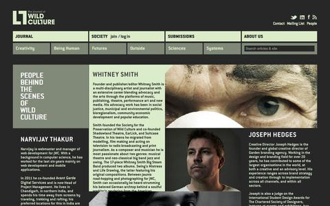 Screenshot of Team Page wildculture.com - People behind the scene | The Journal of Wild Culture - captured Nov. 4, 2014