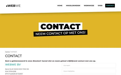 Screenshot of Contact Page webwe.nl - Contact - captured Oct. 1, 2018