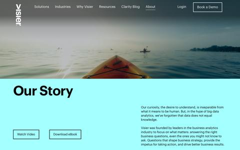 Screenshot of About Page visier.com - Company   Visier Inc. - captured July 5, 2019