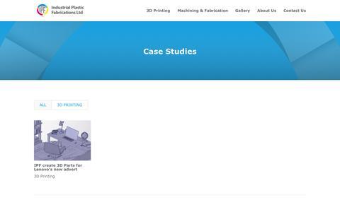 Screenshot of Case Studies Page ipfl.co.uk - Case Studies - IPF Ltd - captured Nov. 17, 2016